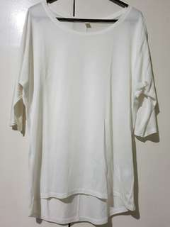 Uniqlo white blouse (S)
