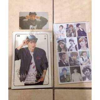 EXO CHANYEOL POSTCARD, STICKER AND UNOFFICIAL PHOTOCARD ( Hard )