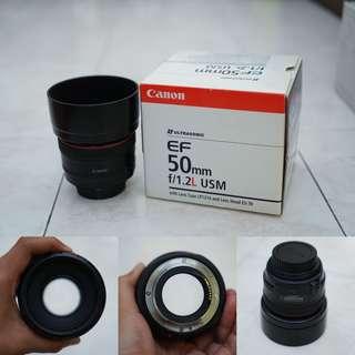 Canon 50 f1.2 L Complete Box