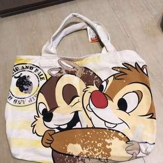Disney chip& dale 大 拉鍊袋