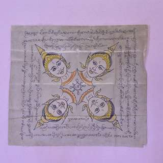 Old hand drawn temple cloth (lanna phyant)