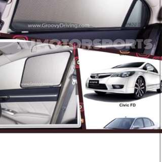 Groovy Sun Shade For Civic FD 3pcs rear 1 pcs missing