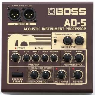 Boss ad5 acoustic DI made in japan