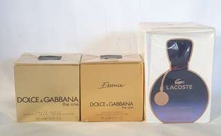 Dolce Gabbana and Lacoste Authentic Perfume