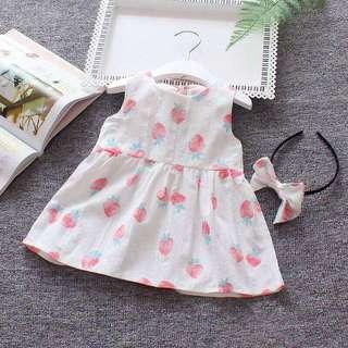 Dress white+bando