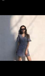 (instock)korean ulzzang lattice dress chic