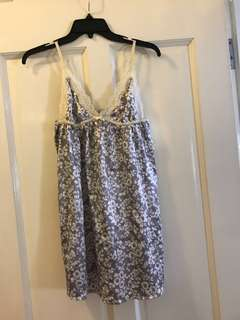 Floral sateen negligee