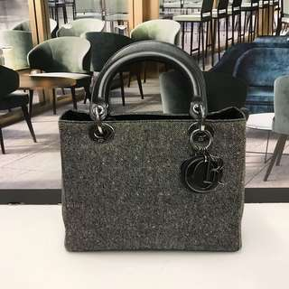 Lady Dior Canvas Bag
