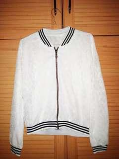Bomber lace jacket
