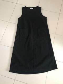 Microfibre dress for autumn or winter