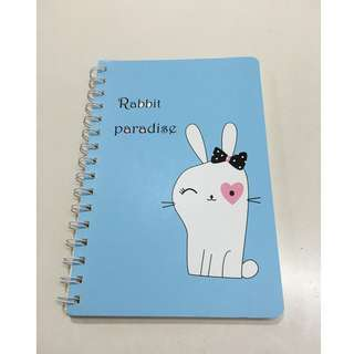 Cute bunny notebook