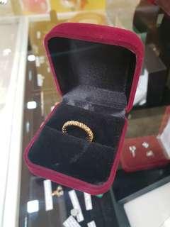 14K Yellow Gold Full Eternity Ring w/ Diamonds