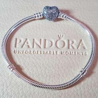 Pandora Pave Heart Collier