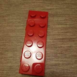 Lego Plastic Red Pencil Case
