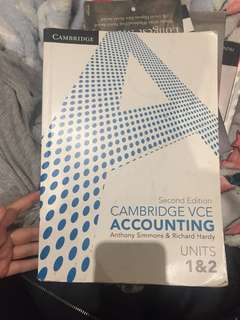 Second edition Cambridge VCE accounting units 1&2