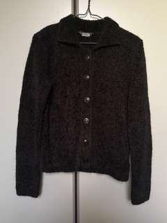 Donna Jeans Black Furry Cardigan