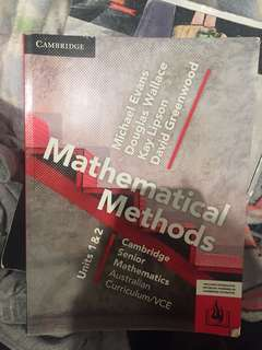 Mathematical methods unit 1&2 Cambridge senior VCE