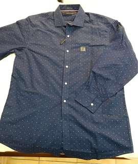 🚚 Tommy Hilfiger 深藍色薄長袖襯衫