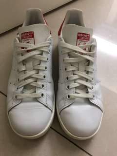 90% new Adidas stan smith white and red
