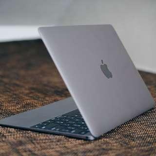 Macbook Retina New 2016 Space Grey UPGRADED Model
