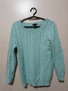 Mint green H&M knit sweater