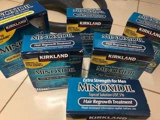 Kirkland minoxidil liquid & foam, beard oil