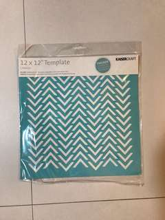 Chevron Stencil/Template