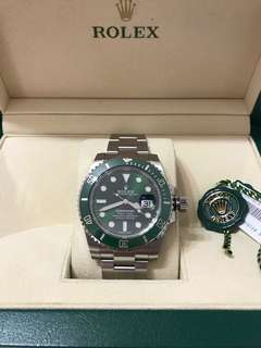 Excellent condition Nov 17 Rolex Hulk Submariner 116610LV