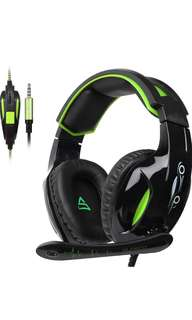 (137) SUPSOO G813 Xbox One, PS4 Gaming Headset 3.5mm wired Over-ear Noise Isolating Microphone Volume Control for Mac / PC/ Laptop / PS4/Xbox one -Black