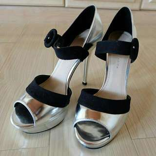 Silver Heels Charles And Keith