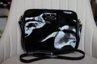 Kate Spade Black Patent Sling Crossbody Bag