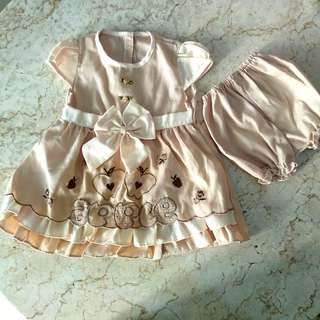#SERBADUALIMA dress anak set