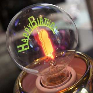 Happy birthday light bulb 燈膽 生日禮物 佈置