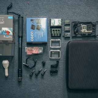 GoPro Hero 4 Silver Edition package bundle like new
