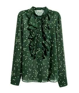 H&M Dotted Blouse