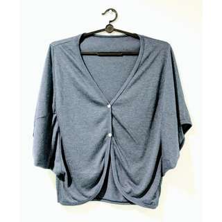 NEW Grey Blue Batwing Jacket