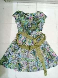 Amary dress hijau size S #preloved #neveruse