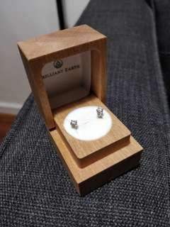 Brilliant Earth 18K White Gold Round Diamond Stud Earrings