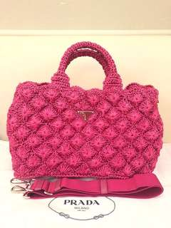 Prada Bag shocking pink colour
