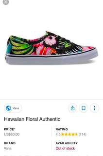 VANS Hawaiian floral authentic