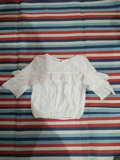 Kamiseta White Blouse with Frills