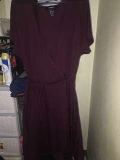 Forever21 MAROON Wrap Around Dress