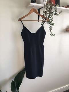 Bodycon navy dress size 8
