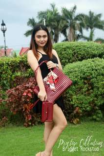 Jelly Bag with FREE Wallet Sling 1pc Twilly Furcharm and plain dustbag