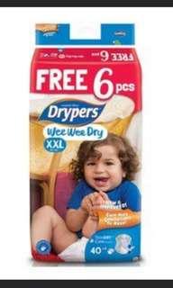 46pcs Wee Wee Drypers