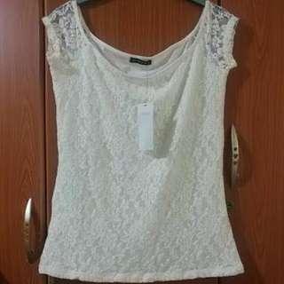 Terranova Maglietta lace White Shirt