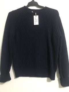 Navy knit jumper BNWT