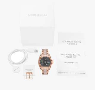 Michael Kors Bradshaw Rose Gold-Tone and Acetate Smartwatch