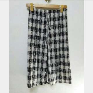 Black And White Sheer Culottes
