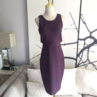 NWOT Elizabeth & James Purple Cut Out Dress